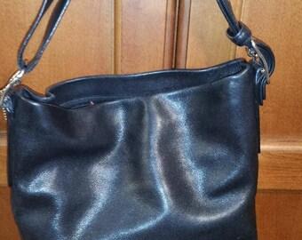 Coach Black leather handbag