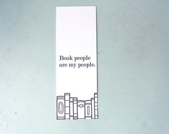 Letterpress Bookmark - Book People Are My People - BKM-645