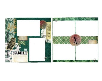My Family - Premade Scrapbook Page Set