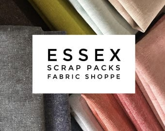 SALE Essex Scrap Fabric, Linen Fabrics Scraps, End of Bolt, Fabric Shoppe fabrics, Best Seller! Limited quantity of these!! 1/2 LB scraps!