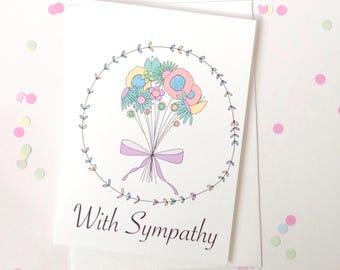 Sympathy Card - Free Postage