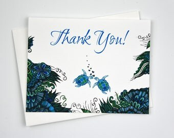 Turtle Thank You Cards