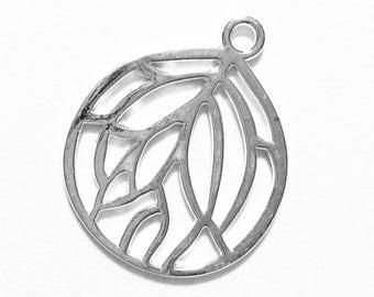 10 pcs of Silver plated pendant 27x22mm, Silver teardrop  pendant, bulk alloy silver pendant