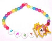 rainbow unicorn fart bracelet