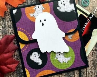 Halloween Gift Card Holder for Kids - Halloween Cards - Halloween Money Card -  Ghost Halloween Gift Card Envelope