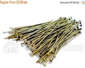 "40% Retirement Closeout - Head Pins, Antiqued Brass, 1.50"", 21 Gauge, 100 Pieces, 5PI00-0001"