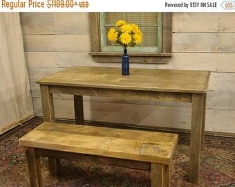 """ON SALE Farmhouse Table & Bench (72"""" x 30"""" x 30""""H)"""