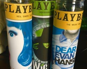 Broadway Prayer Candles Choose From Hairspray / Wicked / Dear Evan Hansen