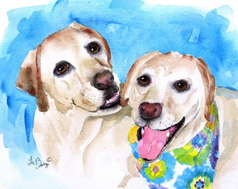 Custom Art, Original, Pet Portrait, Portrait, Commissioned painting, puppy painting, Dog, Cat portraits, Original, Watercolor painting