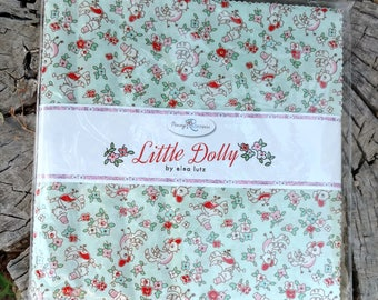 """SALE 10"""" inch squares LITTLE DOLLY layer cake Stacker fabric by Elea Lutz Penny Rose Fabric"""