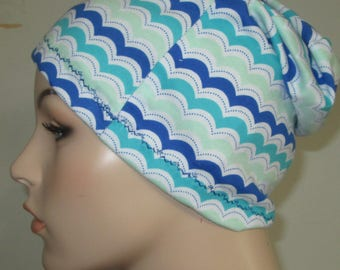 Chemo Hat Beanie Waves Sleep Cap, Cancer Hat, Alopecia