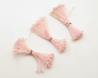 Vintage Stamens Pink Flower Pips