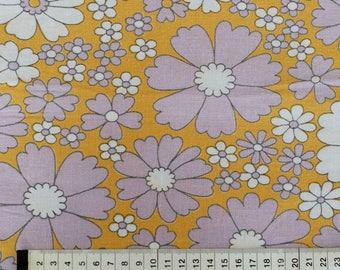 Seventies vintage floral fabric - 80x30 cm.