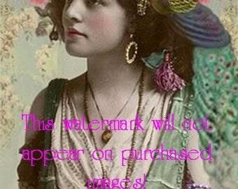 Old Vintage Antique Gypsy Photo Reprint