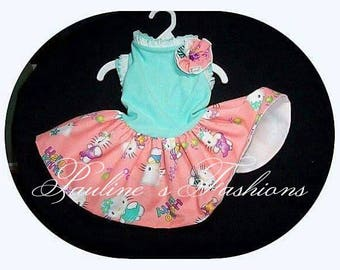 Hello Kitty Summer Dress To Order in Style Shown but different Fabric