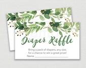 Green Floral Diaper Raffl...