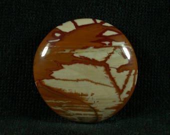 Owyhee Picture Jasper Freeform cabochon from Oregon 29x6mm