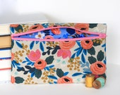 Riffle Paper Co Floral Makeup Bag Pencil Case Handmade