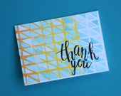 Watercolour Mosaic Thank You Card