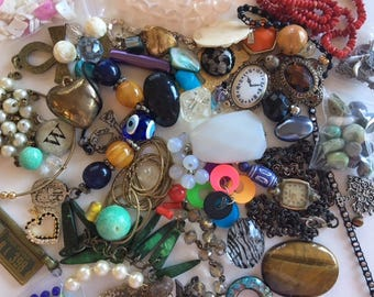 Jewelry Destash Lot-60+ Piece Vintage & Newer Findings-lot 3