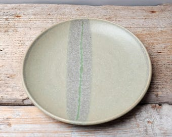 Green Stripe Side Plate