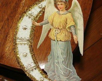 Angel Cotton Moon Christmas Ornament Paper Scrap