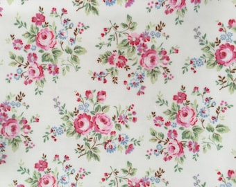 4404 - Cath Kidston Spray Flowers (Offwhite) Oilcloth Waterproof Fabric - 28 Inch (Width) x 17 Inch (Length)