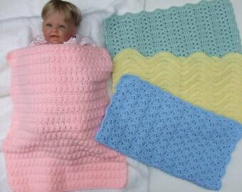CROCHET PATTERN - CV127 Car Seat Baby Blankets - Baby Boy - Baby Girl - PDF Download
