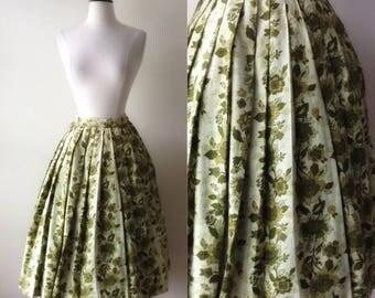 Green Leaves Skirt | 1950s