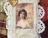 Edwardian NEEDLE KEEP Sewing Kit Needle Book, Needle case, Vintage laces