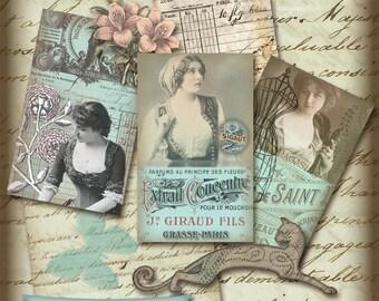 Instant Download - Paris Collage Sheet