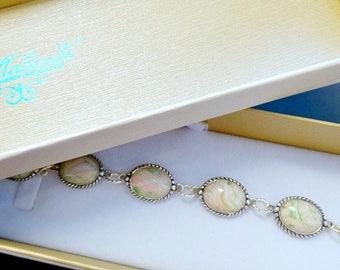 Keepsake Jewelry, Memorial Jewelry, Memorial Flower Petal Jewelry, Funeral Flower Jewelry, Memorial Gift Idea, Alexandra Bracelet