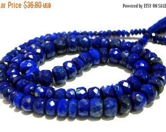 50% Off Sale 1/2 Strand AAA Lapis Lazuli Faceted Rondelles Size 3 - 7mm approx