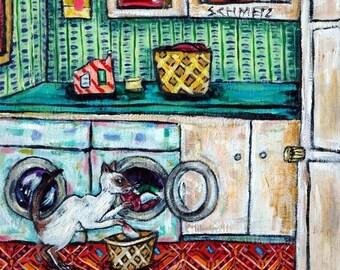 20% off siamese cat art tile coaster JSCHMETZ laundry modern abstract folk pop art AMERICAN ART gift