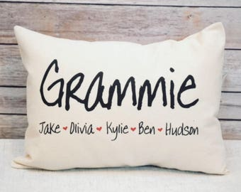 Personalized Pillow, Grandparents day, mom gift, Nana gift, Mothers day gift, Mom Gift, Grandmother Gift, Grandparents day, Gift for her,