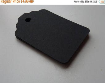 CLOSING DOWN SALE medium size matte black colour plain card price hang gift tags