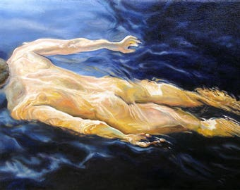Figure Study - Nude Swimmer (2260)
