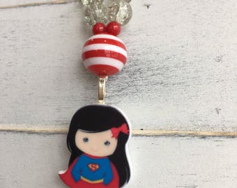 Super girl charm necklace