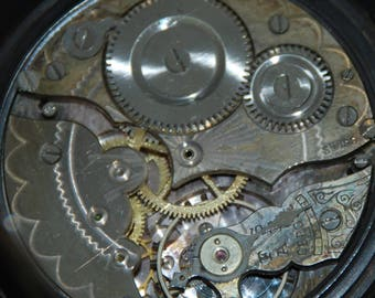 Vintage Antique Watch Pocket Watch Movement Case Body Dial Face Steampunk Altered Art SM 18