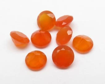 Carnelian Round Faceted Round Gemstone ~ Various Sizes