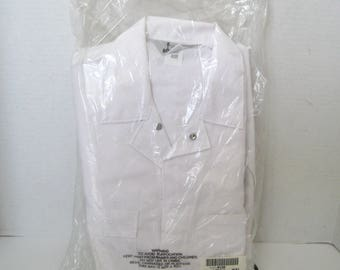 Vintage Sears Roebucks White Coverall NOS In Original Package Size 40 R