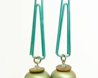 Vintage Mod Dangle Pierced Earrings Mid Century Design