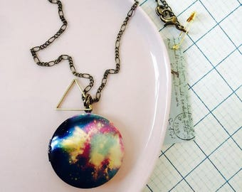 Galaxy Keepsake Locket