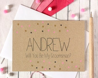 Personalised Groomsman Card. Will You Be My Groomsman. Card to Ask Groomsman. Be My Groomsman Card. Groomsman Wedding Card. Groomsman. Be My