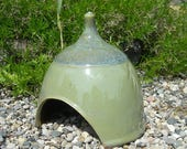 Toad House , Ceramic Toad House , Fairy Garden Hut , Toad Abode , Jon Whitney Pottery , Whimsical Garden Decoration !