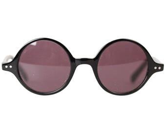 Authentic OFFICINA OTTICA Vintage Round Sunglasses OF 1073 201 44mm Nos