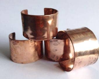 Hammered Copper Napkin Ring - Hand Forged Napkin Ring - Wedding Gift - 9th Anniversary Gift - Housewarming Gift
