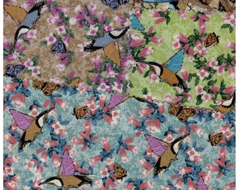 Clearance! 5 pieces of M & S Textiles Aboriginal Designs Australian Fabric birds and butterflies metallic detail - see description below