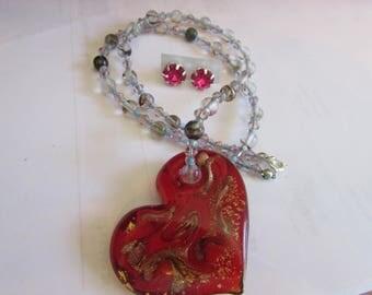 heart labolite necklace