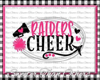 Cheer SVG, Raiders Cheer Svg, Cheerleader Svg Raiders Cheerleader pattern Vinyl Design SVG DXF Silhouette, Cameo, Cricut, Instant Download